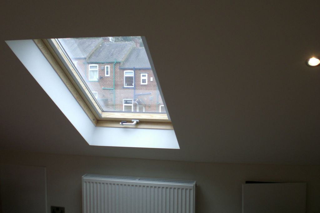 velux plastered
