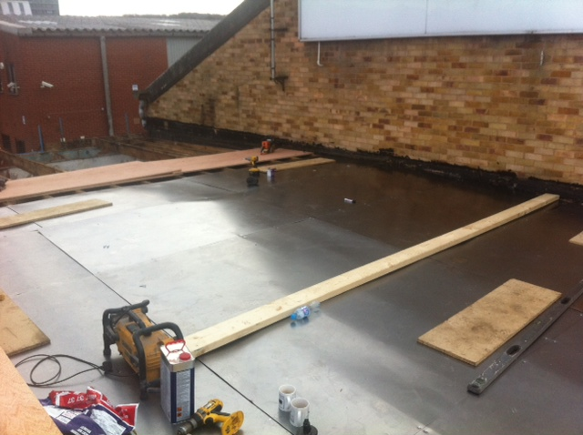 Flat Roof Warehouse : Sheffield commercial builder landscaper gallery images