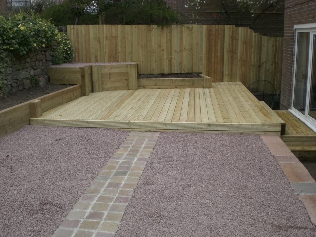 Sheffield Landscaper Gallery Patios Decking Ponds Fencing Sleepers Awesome Garden Decking Designs Gallery