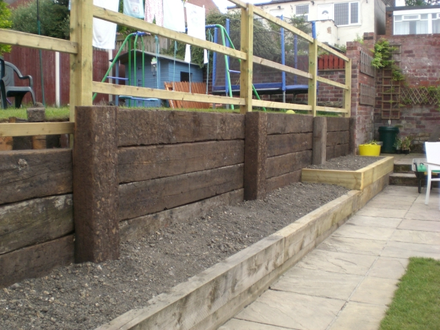 Construction Of Board Walk With A Sleeper Retaining Wall